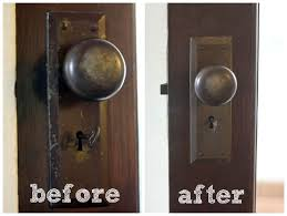 re door hardware all you need is boiling water and a magic eraser