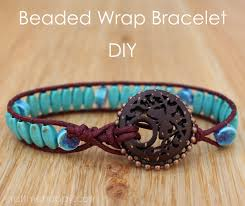 wrap bracelet tutorial using blueberry cove beads