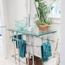 custom glass pedestal sink