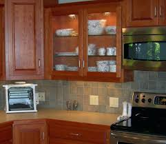 glass shelves for kitchen cabinets with led shelf lighting kit cabinet system edge simple ideas door