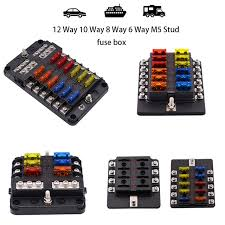 wupp car fuse box 12 way 10 way 8 way 6 way m5 stud independent wupp car fuse box 12 way 10 way 8 way 6 way m5 stud independent positive and negative for auto car boat marine trike caravan