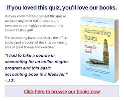basic accounting test multiple choice quiz