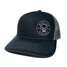 BLACK MID-PROFILE TRUCKER HAT APEMAN STRONG Trucker Hats