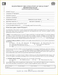 Free Lease Agreement Form Template Of Residential Lease Agreement