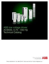 Abb Acs550 Drives Technical Catalog