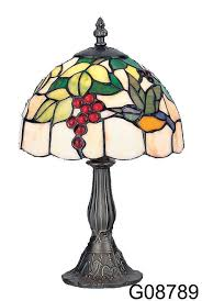 tiffany style unique stained glass desk table lamp light