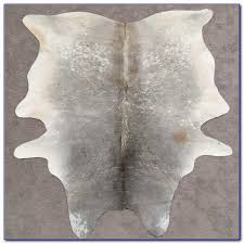 faux cowhide rug grey page best home decorating