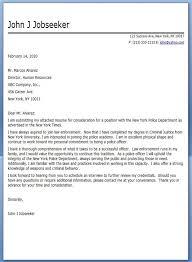 police officer cover letter sample background investigation cover letter