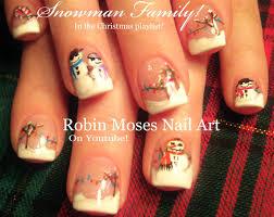 Easy Christmas Nails | Winter Snowman Scene | Fun Nail Art Design ...