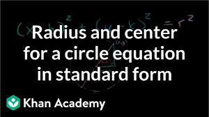 radius and center for a circle equation