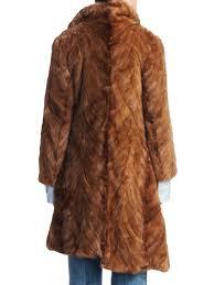 vetements milanesa reworked fur coat light brown women s coats faux shearling