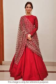 Tamanna Designer Store Tamanna Bhatia Crepe Party Wear Gown In Red Colour Nc4962