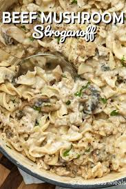 creamy beef mushroom stroganoff recipe