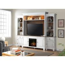 white 4 piece classic fireplace entertainment center camden