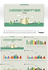 Light Tree Ppt Awesome Light Green Simple And Refreshing Ppt Chart For Free