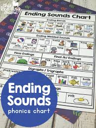 Ending Sounds Phonics Chart This Reading Mama