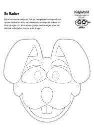Kleurplaat Masker Ko Kleurplatennl