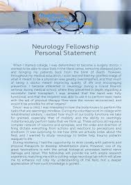 How To Write A Child Neurology Personal Statement