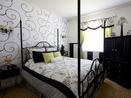 black and white is a blank color instead opt for bold or muted colors like black white shades of purple etc add bright blue accessories in the room bedroom ideas black white