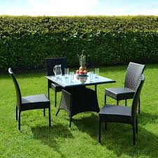 plastic garden table and chairs outdoor dining set with glass top table and four chairs elegant plastic garden table
