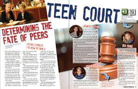 For the teen court because