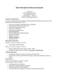 Cover Letter For Receptionist Example Documentum Administrator