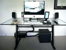 cable management glass desk computer cable organizer