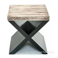modern wood side table modern wood end table a rustic chic side table modern dark wood
