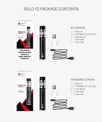 electronic cigarette Vape Pen <b>Vaptio Solo</b> F2 kit 2200mah Built in ...