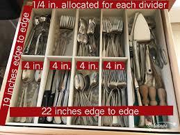 measurement to make a large drawer organizer