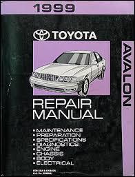 1999 toyota avalon wiring diagram manual original 1999 toyota avalon repair shop manual original
