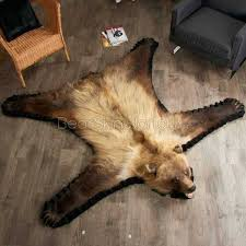 bear skin rugs 5 foot 7 inch grizzly bear rug bear skin rugs history