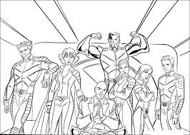 You can easily print or download them at your convenience. X Men Coloring Book Pages
