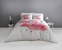 watercolour flamingo bedding set with pillowcases