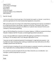 Ideas Collection Cna Cover Letter Examples Sample Cover Letter For