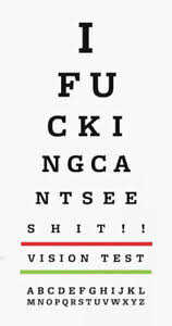 Details About Framed Print Funny Eye Chart Picture Snellen Optician Glasses Vision Test