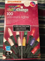 Sylvania Christmas Lights 3 Function Color Changing Sylvania 100 3 Function Color Changing Led Mini Lights
