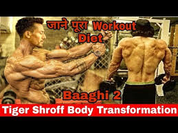 Tiger Shroff Diet Plan Chart Tiger Shroffs Baaghi 2 Gym Workout Video Leaked Workout