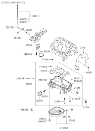 21520 37103 genuine hyundai pan assy engine oil 2000 hyundai santa fe belt cover oil pan diagram 2021512