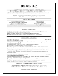 Machine Mechanic Sample Resume Mitocadorcoreano Com