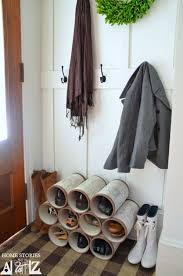 entryway pvc pipes shoes storage entryway shoe organizer