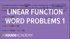 linear function word problems basic example math new sat khan academy you
