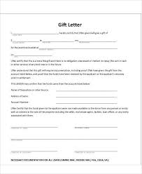 Gift For Letter Of Recommendation Sample Gift Letters 45 Examples In Pdf Word