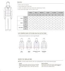 Carhartt Coat Size Chart V01 Leisure Quilted Mens Zip Arctic Vest Jacket Top