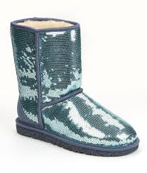 UGG Classic Short Sparkles Boot Blue