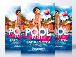 Pool Party Flyer Template By Rome Creation - Dribbble