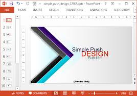 Animated Push Design Template For Powerpoint