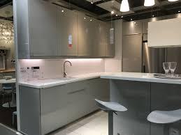 Ikea Kitchen Lights Under Cabinet Uk Ikea Ringhult Gloss Light Grey Kitchen Light Grey Kitchens