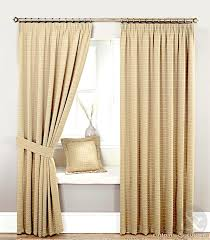 custom french country curtains and ds with brown color for white wood window frame with bench and white leather cushions ideas