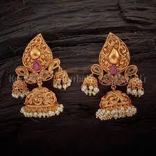 Designer Earrings Online Shopping India Antique Trilok Jhumka Earrings Indian Earrings Indian